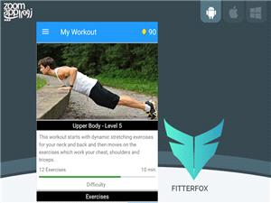 برنامه Fitterfox: آموزش و انجام حرکات ورزشی در خانه - زوم اپ