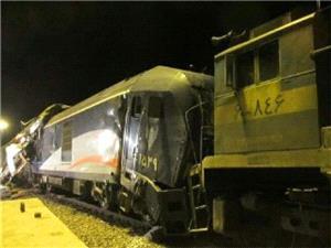آتش سوزی بر اثر برخورد دو قطار در ایستگاه هفت خوان سمنان
