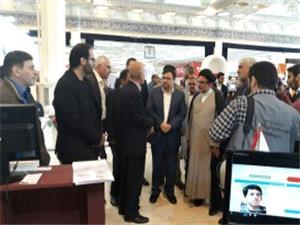 بازدید دبیر شورای عالی فضای مجازی از غرفه بنیاد در نمایشگاه رسانه های دیجیتال