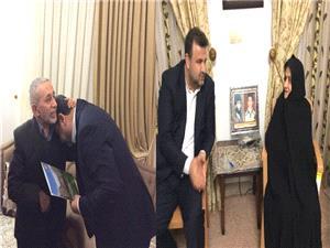 استاندار مازندران با مادر شهیدان دیو سالار و جانباز 70 درصد علی اعظم کابلی درنوشهردیدارکرد