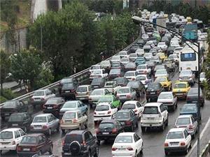 وضعیت ترافیک معابر تهران در اولین روز هفته