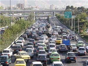 ترافیک معابر بزرگراهی تهران