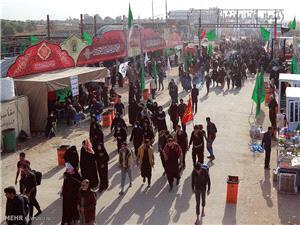هشت موکب آبادان در عراق مستقر مي شوند / برپايي 122 موکب آبادان در مرزشلمچه