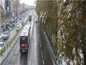 خدمت رسانی 6 هزار دستگاه اتوبوس همزمان با بارش برف در پایتخت