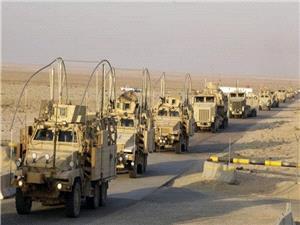 انفجار در مسير کاروان آمريکايي در جنوب عراق
