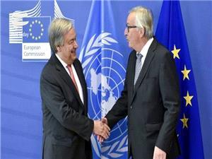 گوترش: سازمان ملل از تلاشهاي اتحاديه اروپا براي نجات برجام حمايت مي کند