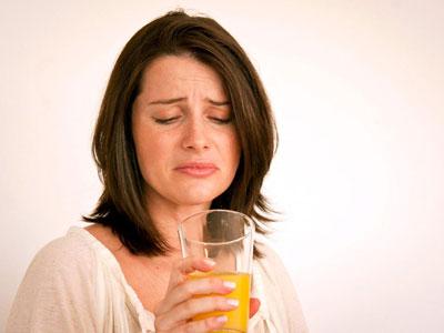 عفونت دستگاه تنفسی, طعم فلز در دهان