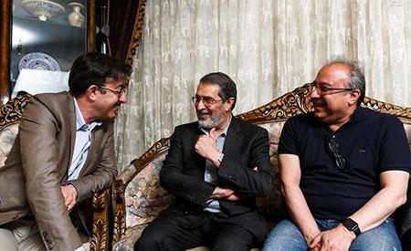 اميرحسين ارمان و لادن خبرگزاری آريا - تصاوير پشت صحنه سريال پريا