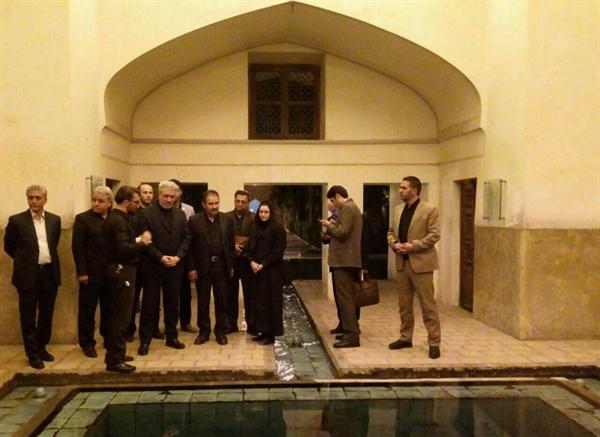بازدید رئیس سازمان میراثفرهنگی از باغ فین کاشان