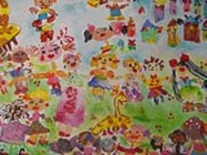 جایزه اول مسابقه نقاشی اسپانیا ، سهم دختر ۶ ساله اهوازی