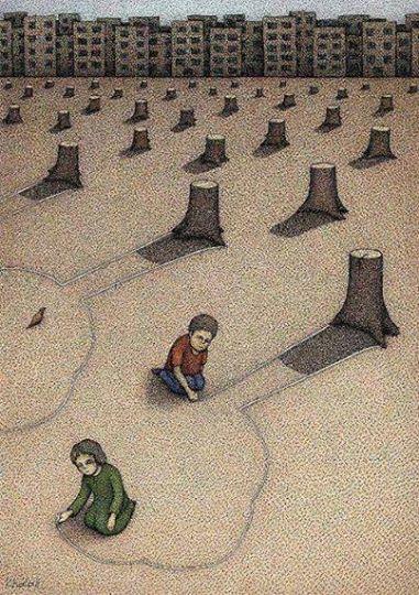 اصرار و عجله ی شهرداری تبریز در قطع درختان در مسیر پروژه های نامعلوم و نامحبوب!
