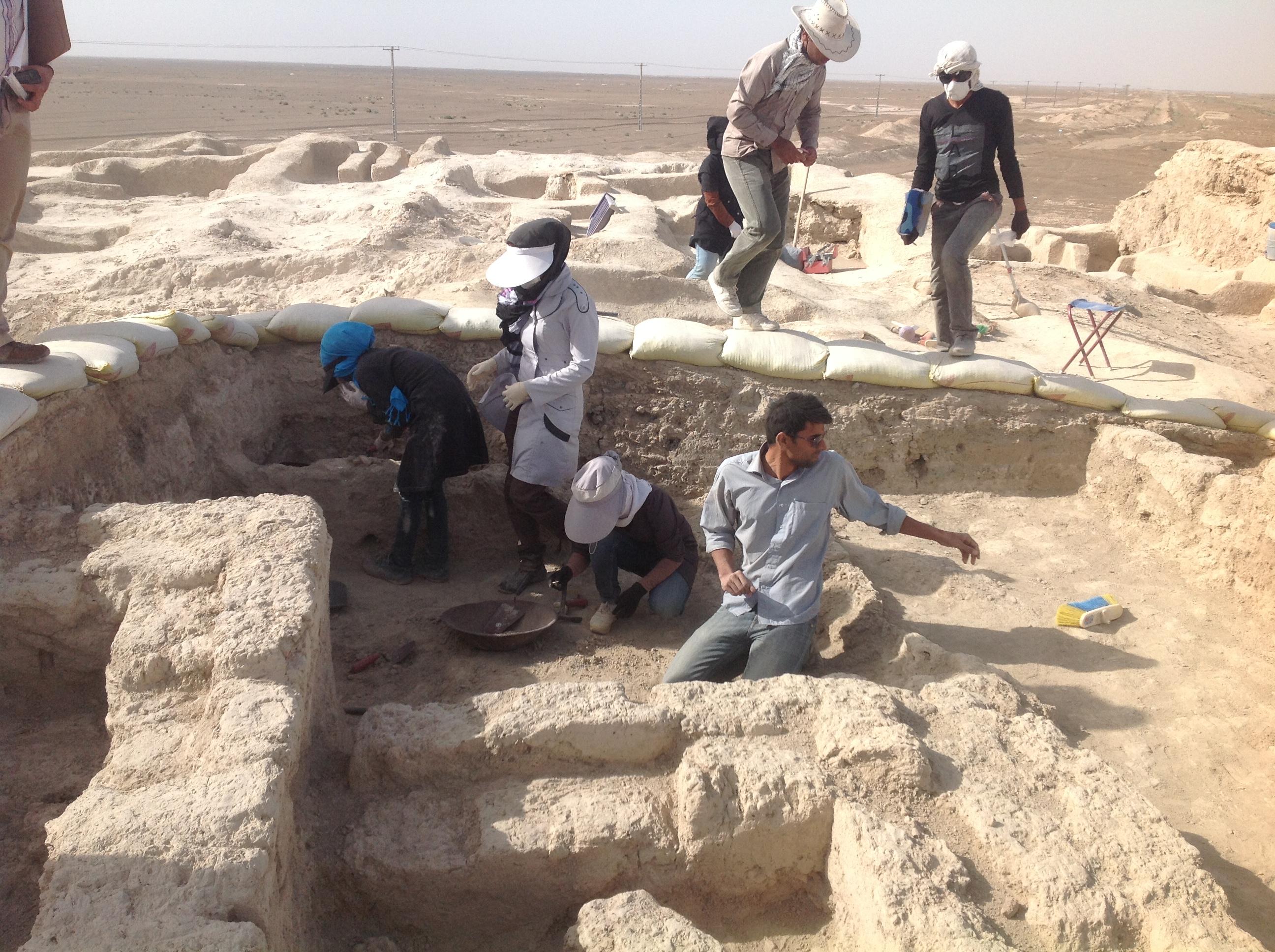 کشف بلندترین دیوار در محوطه های اقماری شهر سوخته سیستان
