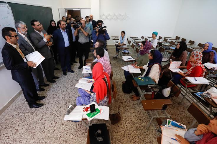 بازديد از کلاس هاي دوره هشتادودومين دانش افزايي زبان فارسي