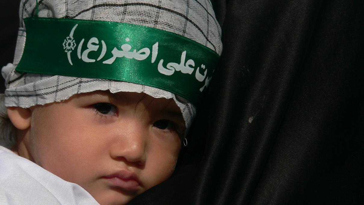 همنوايي کودکان نيشابوري باحضرت علي اصغر«ع»