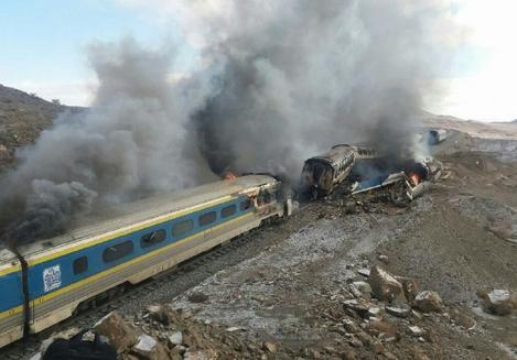 اسامی مجروحان تصادف قطار تبریز مشهد در سمنان