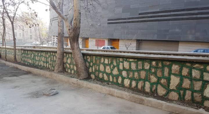 ایمن سازی دیوار سنگی کانال خشایار