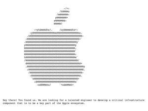 اپل از طریق صفحات مخفی در وب سایتش به دنبال مهندسین حرفه ای می گردد