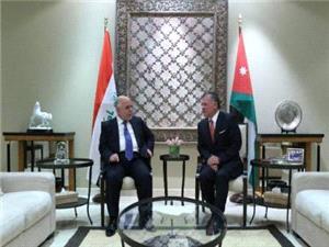 شاه اردن از وحدت، يکپارچگي و برقراري امنيت در عراق حمايت کرد